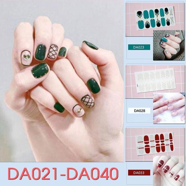 Sticker dán trang trí móng tay họa tiết dễ thương mã DA021 - DA040 giá rẻ