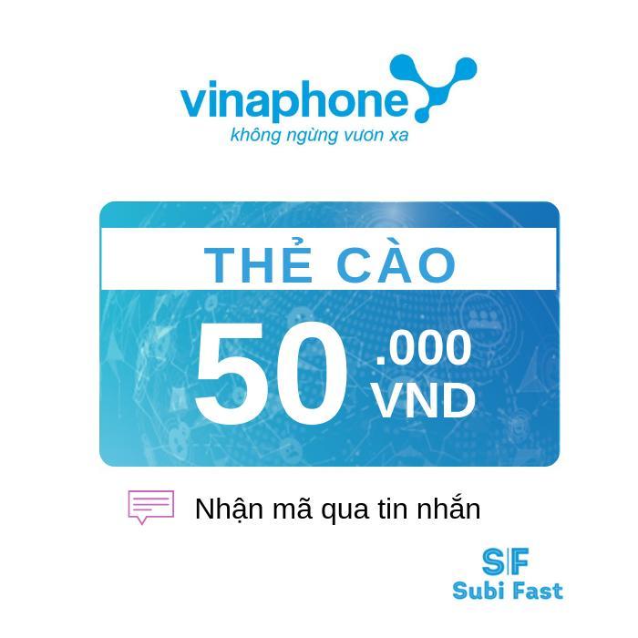Thẻ Cào Vinaphone 50K - Nhận Mã Siêu Nhanh [sms] Đang Khuyến Mãi