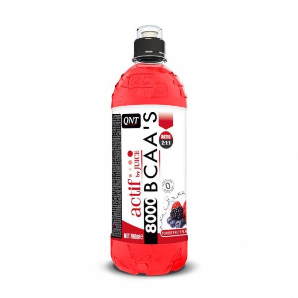 Nước Giải Khát Tăng Lực BCAA 8000 Mg Hương Trái Cây Rừng Hiệu QNT  (12 Bình 700ml) - ACTIF BCAAS 8000 MG DRINK FOREST FRUIT 12 Bottles 700ml
