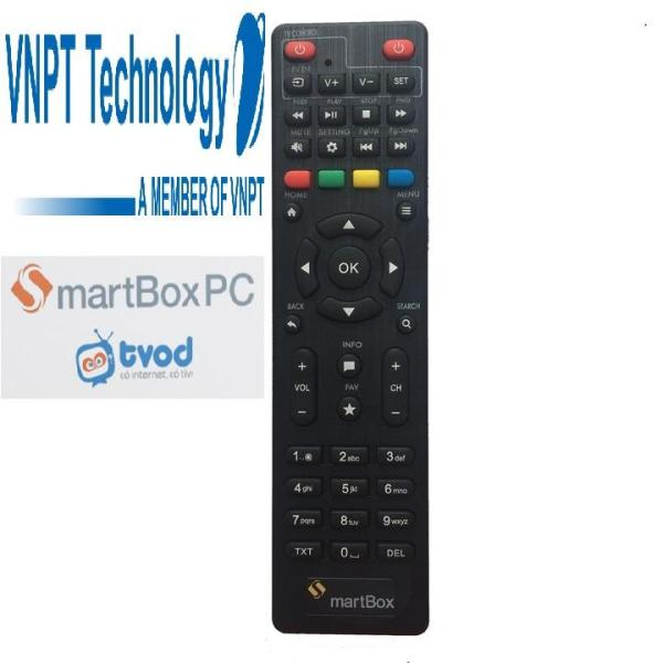 Remote điều khiển đầu thu VNPT SMARTBOX SMART BOX sử dụng 2 viên pin AA phím bấm mềm êm tay