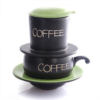 Bộ phin pha cafe 4 màu cao cấp gốm sứ Bát Tràng thumbnail