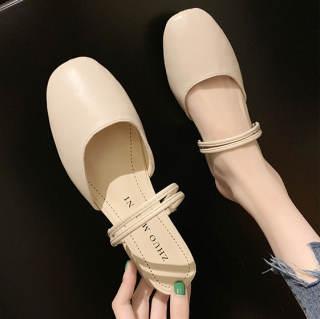 Giày Sục Nữ Quai Hậu Da Mềm Đi Được 2 Kiểu, Gót Vuông 3 Phân GN19