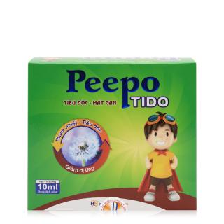 PEEPO TIDO - Siro thanh nhiệt, tiêu độc, mát gan - dùng cho cả trẻ em và người lớn bị dị ứng, rôm sảy, mẩn ngứa - Hộp 20 ống thumbnail