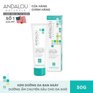 Kem dưỡng ẩm da ban ngày Andalou Naturals Quenching Coconut Water Visibly Firm Day Cream 50g thumbnail