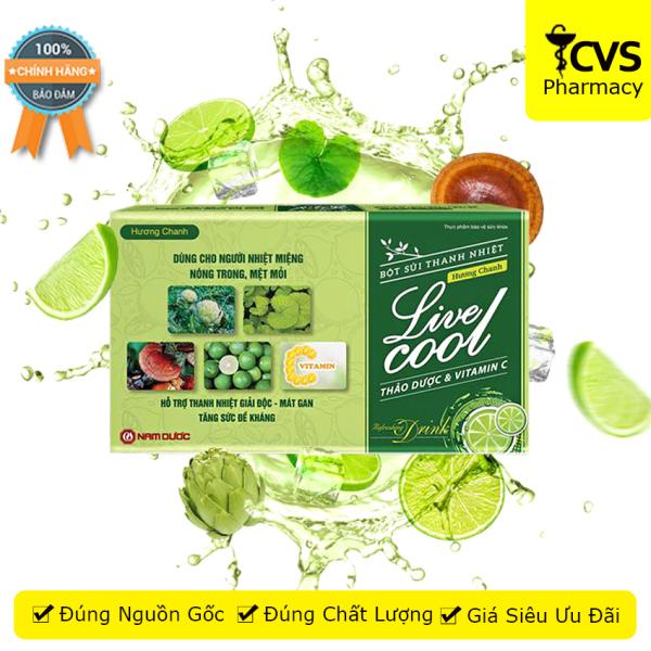 Bột Sủi Thanh Nhiệt Live Cool (Hương Chanh) Livecool dùng cho người nhiệt miệng nóng trong & mệt mỏi - cvspharmacy