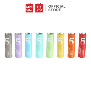 Pin AA, vỉ 8 viên công nghệ an toàn chống rò rỉ chất lượng cao Miniso (Colorful) thumbnail