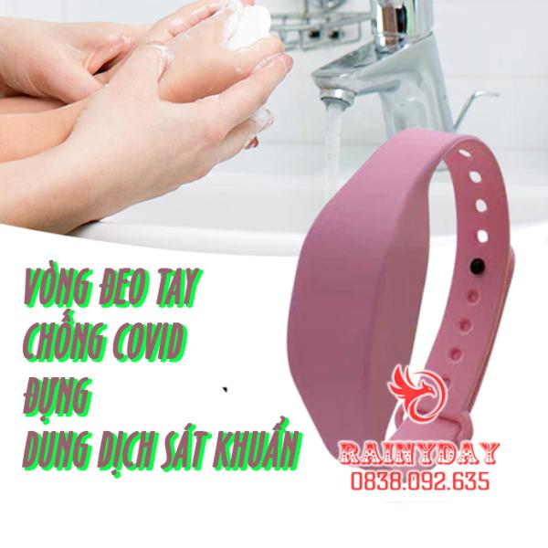 [ Chống COVID ] Vòng đeo tay đựng nước gel rửa tay khô dung dịch sát khuẩn cho bé bằng silicon