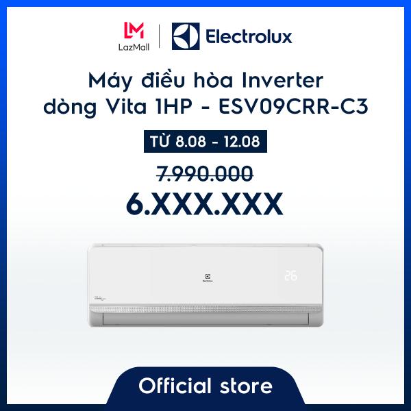Bảng giá [Freeship HCM + HN] Máy điều hòa Electrolux Inverter 1HP 9000BTU ESV09CRR-C3 – Màu trắng - Làm lạnh thông minh - Tiết kiệm điện - Hàng chính hãng