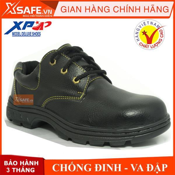 Giá bán Giày bảo hộ lao động XP mũi và lót thép chống đinh chống dập ngón chống nước, chống va đập (xanh đen)