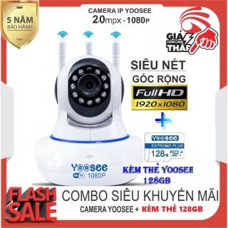 (Camera wifi yoosee xoay 360 độ-Chuẩn 2.0 mpx -Tùy chọn kèm thẻ 128 YOOSEE CHUYÊN DỤNG ,BH 5 NĂM ) - CAMERA IP WIFI,camera yoosee 3 râu-SIÊU NÉT 2.0 FULL HD 1920 x 1080P(CÓ 4 MÃ KHÔNG THẺ,32GB,64GB,128GB thumbnail