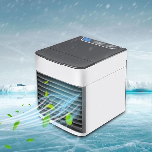 Quạt điều hòa mini hơi nước giá rẻ để bàn siêu mát có khay đựng nước và đá mẫu mới 2021-quạt điều hoà mini-quạt hơi nước mini-quạt sạc tích điện loại lớn-quạt mini cầm tay-quat tich dien-quat mini sac pin-QDHMN02