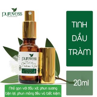Tinh dầu Tràm Purevess giúp diệt khuẩn, kháng khuẩn, giảm mệt mỏi. Cajeput Essential Oil. thumbnail