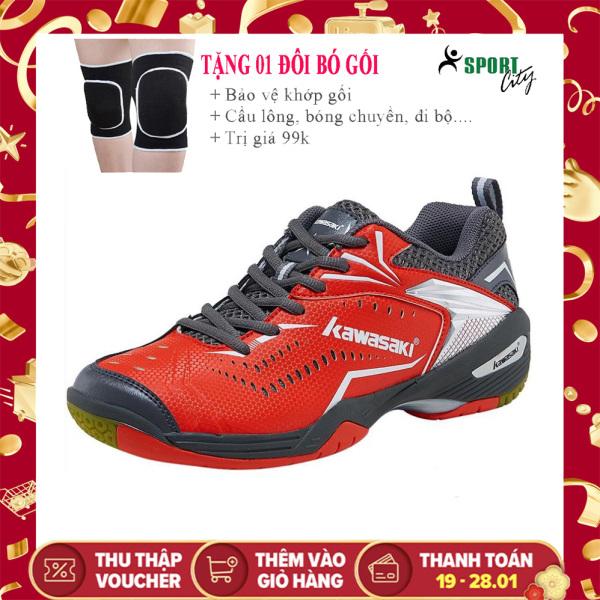 Giày cầu lông nam Kawasaki K526 mẫu mới, phom giày ôm chân, êm ái, dành cho nam và nữ, màu đỏ, đủ size - sportcity