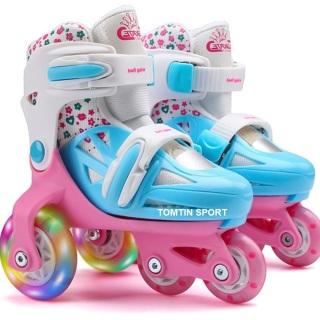 Giày patin trẻ em có đèn led, 3 hàng bánh cho bé 2-5 tuổi, trượt được luôn không sợ ngã, tặng kèm bảo hộ chân tay [TOMTIN SPORT] thumbnail