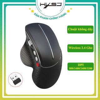 Chuột không dây HXSJ T32 Chuột đứng Wireless 2.4 Ghz DPI 3600 không gây mỏi tay, chuyên dùng cho laptop, pc, tivi - Hàng Chính Hãng thumbnail