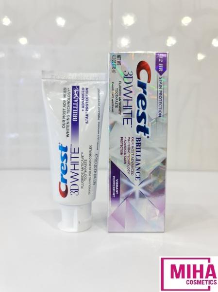 Kem Đánh Răng Hỗ Trợ Trắng Răng Crest 3D White Brilliance Vibrant Peppermint 116g USA giá rẻ