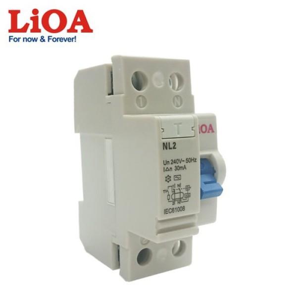 Aptomat Chống giật LIOA 2P 40A - 30mA 240V AC - Chính hãng