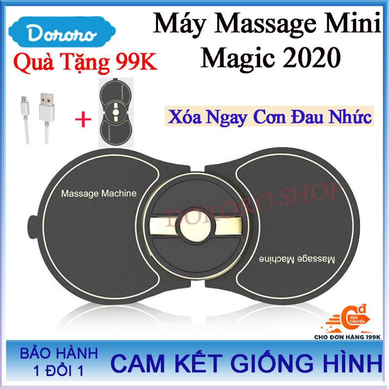 Máy Massage Mini Xung Điện Magic 2020 - Tặng kèm dây sạc + 2 miếng dán Trị giá 99K- máy mát xa; máy massage bụng; máy massage xung điện; máy massage xiaomi; máy massage mặt - DORORO SHOP
