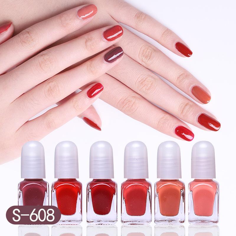 Set 6 chai sơn móng tay lột Oulisi Candy healthy nails polish