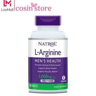 Viên uống Natrol L-Arginine Men s Health 3,000mg per serving Extra Strength 90 viên - tăng cường sức khỏe nam giới thumbnail