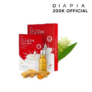 Bộ dưỡng da trắng sáng Collagen Sữa Dê Ampoule Mask + Tinh chất dưỡng da củ nghệ ADL Repair Serum thumbnail
