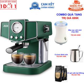 Quà Tặng Trị Giá 599K - Hướng Dẫn Sử Dụng Máy pha cà phê Espresso ACA AC-E12K AC-ES12A bán tự động 15-20 Bar dành cho gia đình - Máy pha cafe bán tự độngAC-E12K Máy pha cà phê sữa Cappuccino Máy pha cà phê Ý kiểu dáng Retro thumbnail
