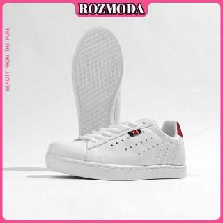 Giày thể thao nữ trắng sneaker nữ đế bằng siêu dễ thương năng động Rozmoda GI08 thumbnail