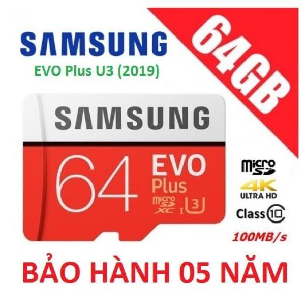 Thẻ nhớ 64GB Samsung Plus U3 Class10 4K 100Mb/s - Tốc độ Siêu Cao New Model