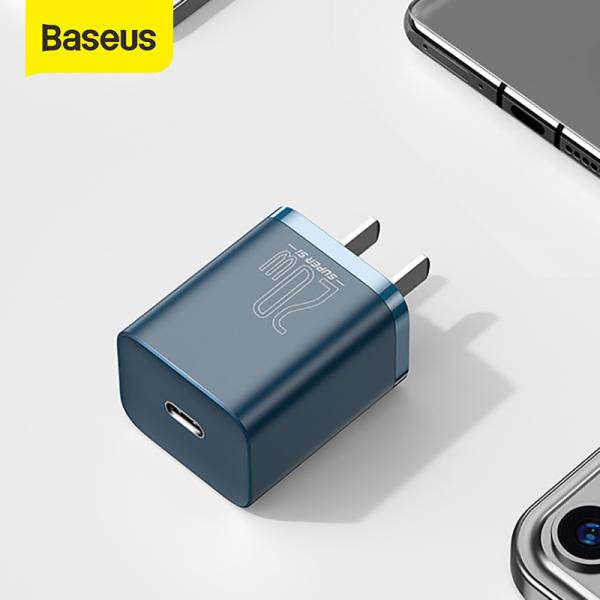 【Dùng cho iPhone 12】Cốc Sạc BASEUS Mini 20W Super Si Sạc Nhanh dùng cho iPhone 12 iPad Xiaomi OPPO Vivo Vinsmart Huawei Đầu ra Type-C 2 Màu Trắng Đen tùy chọn