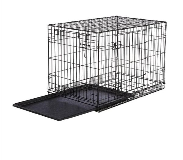 [HCM]Lồng Chó Mèo Gấp Gọn Sơn Tĩnh Điện 60x42x50cm 3 Màu Lựa Chọn