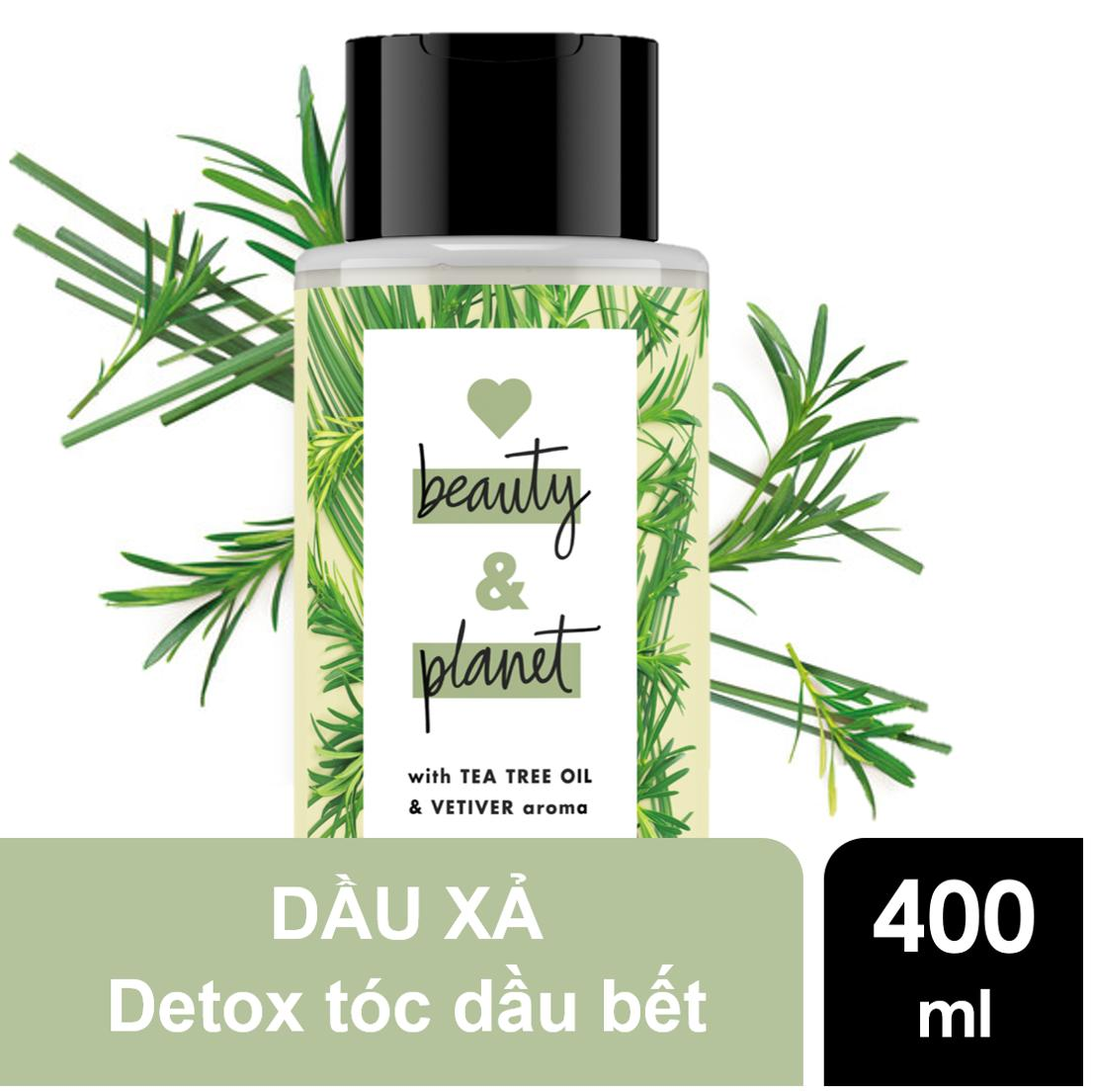 Dầu xả detox tóc Love Beauty And Planet Radical Refresher 400ml