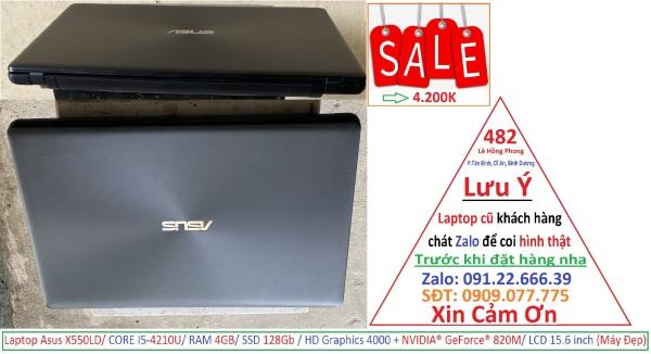 Bảng giá Laptop Asus X550LD/ CORE I5-4210U/ RAM 4GB/ SSD 128Gb / HD Graphics 4000 + NVIDIA® GeForce® 820M/ LCD 15.6 inch (Máy Đẹp) Phong Vũ