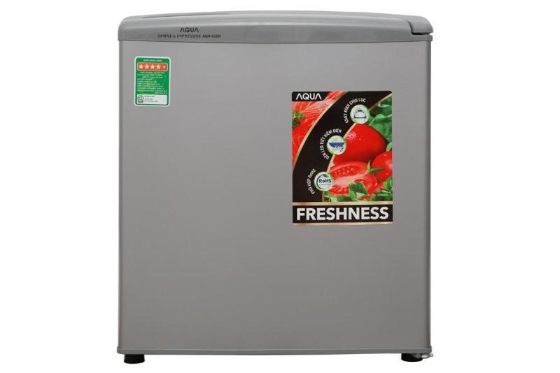 Tủ lạnh Aqua 50 lít AQR-55ER (SS) Xám Nhạt