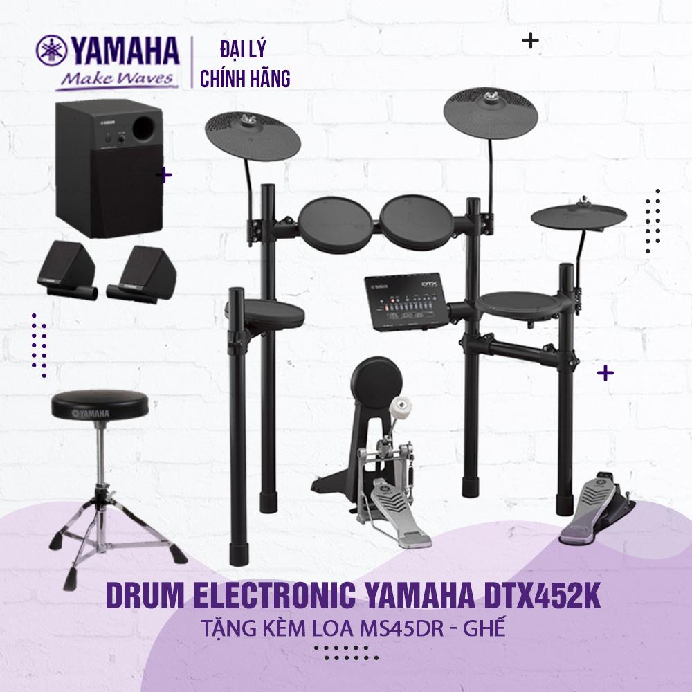 Bộ trống điện tử Yamaha DTX452K - Hàng chính hãng Yamaha phân phối ( Tặng bộ loa và ghế Yamaha + Bảo hành 12 tháng )