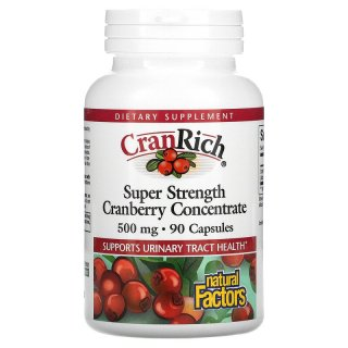 CranRich, Super Strength, Cranberry Concentrate, 500 mg hộp 90 viên của Natural Factors - iHerb Việt Nam thumbnail