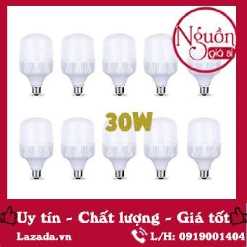 [Sĩ] Bộ 10 bóng đèn Led trụ 30W Chùm tia góc: 360 độ Siêu sáng - tiết kiệm điện (Trắng). Bảo hành: 12 Tháng.