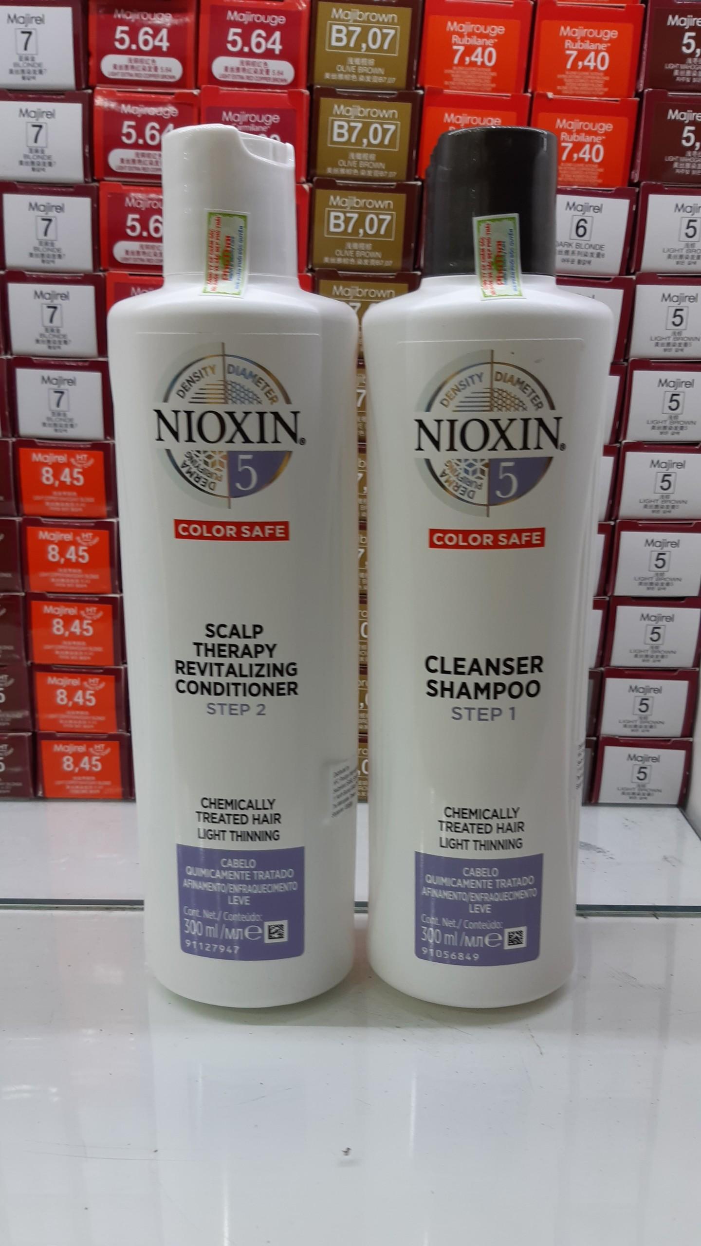 Bộ dầu gội xả Nioxin chống rụng tóc System 5 300mlx2 ( New 2019 ) tốt nhất