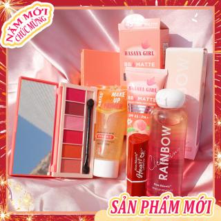 [Peachy Sis Shop] Bộ mỹ phẩm Kiss Beauty-5 món đầy đủ(Kem cách ly Trong suốt+kem BB+6 bóng mắt+Son môi+Dầu tẩy trang dạng nước) thumbnail