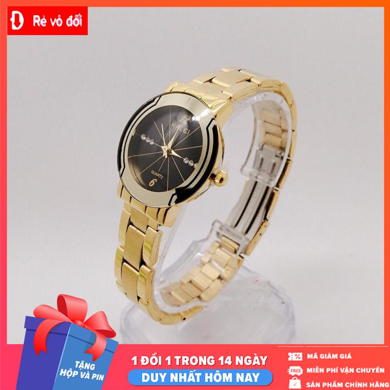 Đồng hồ nữ Halei dây kim loại,chống nước ,chống xước tuyệt đối, sang trọng lịch lãm - Tặng kèm hộp và Pin - Sams Shop