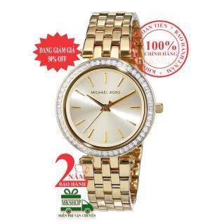 Đồng hồ thời trang nữ Michael Kors MK3365, Vỏ, mặt và dây màu Vàng (Gold), viền đá pha lê Swarovski, size 33mm - Model no MK3365 thumbnail