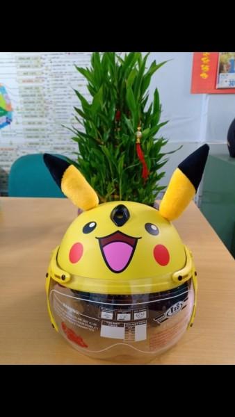 Giá bán Nón Bảo Hiểm Trẻ Em Pikachu Có Kính V&S Helmet Cho bé Từ 7>18Tuổi Màu Vàng