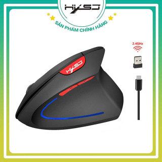 Chuột Không Dây Đứng chính hãng HXSJ T24X Chống Mỏi Tay 2400DPI dành cho máy tính bảng macbook chuyên game, văn phòng, thiết kế thuộc dòng chuột ko dây cao cap logitech fuhlen genius xiaomi gaming-BẢO HÀNH 12 THÁNG thumbnail