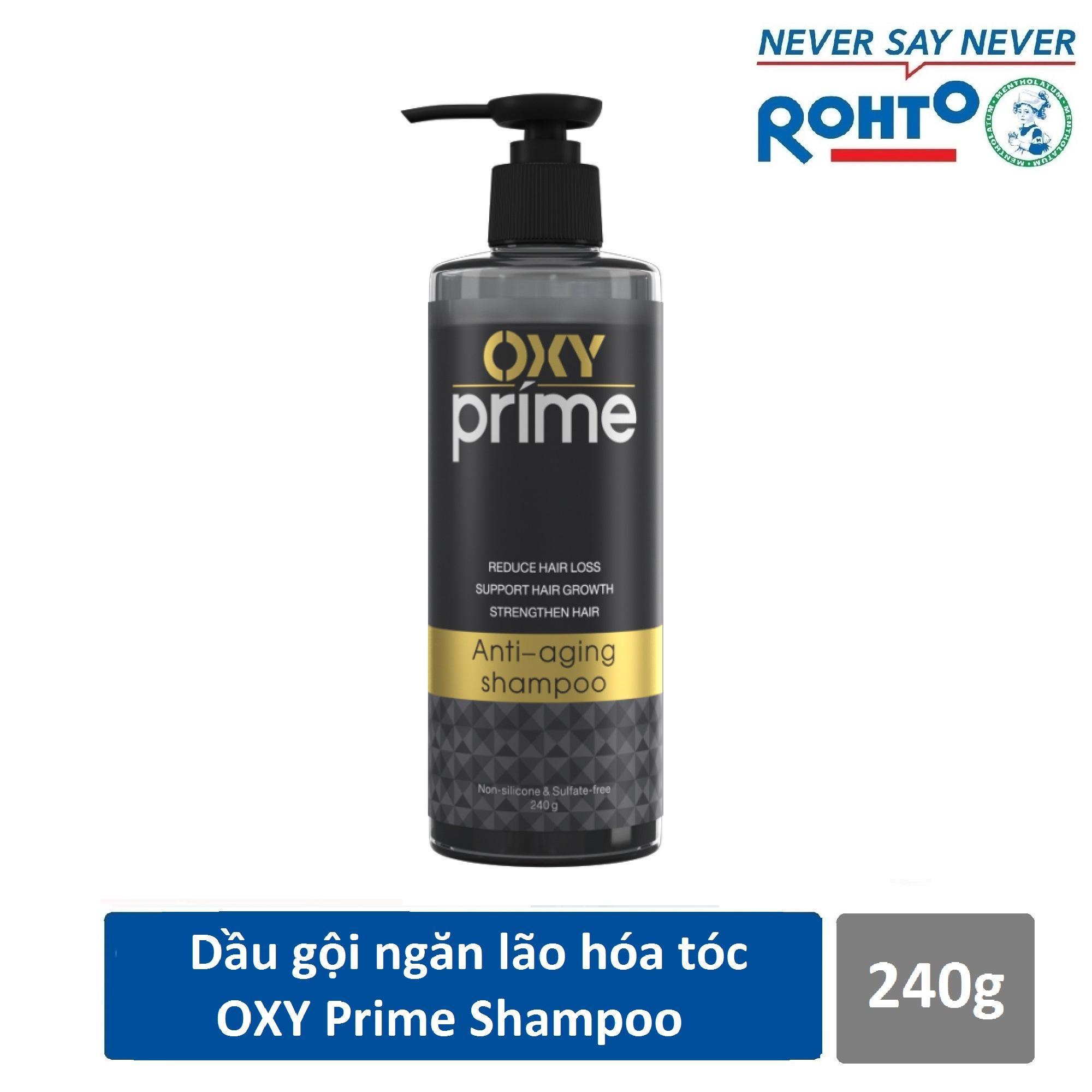 Dầu gội ngăn lão hóa tóc Oxy Prime 240g chính hãng