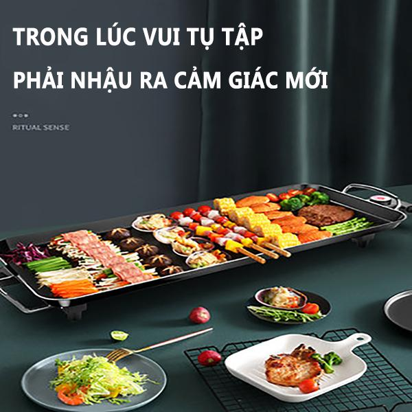 Bếp nướng điện khộng khói bếp nướng trong nhà Hàn Quốc bếp nướng đa năng