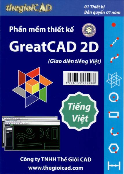 Bảng giá Phần mềm thiết kế GreatCAD phiên bản tiêu chuẩn 1.0.9.0 - Giao diện tiếng Việt (CD/04/2021) - Bản quyền 01 năm Phong Vũ