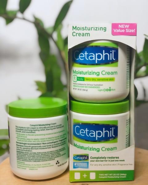Set 2 kem dưỡng ẩm Cetaphil Moisturizing Cream 566g Hàng Nhập Mỹ  Kem Dưỡng Ẩm Cetaphil  Dưỡng ẩm và làm mềm da,toàn thân, lành tính với làn da nhạy cảm Cetaphil Moisturizing Cream 20 oz, 2-pack giá rẻ