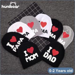 Mũ Trẻ Em Honibear Cho Bé Trai Và Bé Gái Mũ Dệt Kim Cotton In Hình Trái Tim Cho Trẻ Em 0-24mths