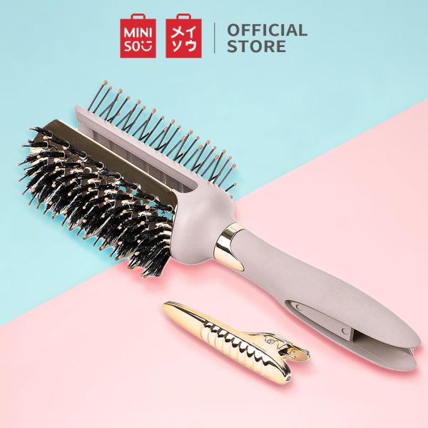 Lược chải tóc Miniso hai mặt có nẹp - Hàng chính hãng nhập khẩu