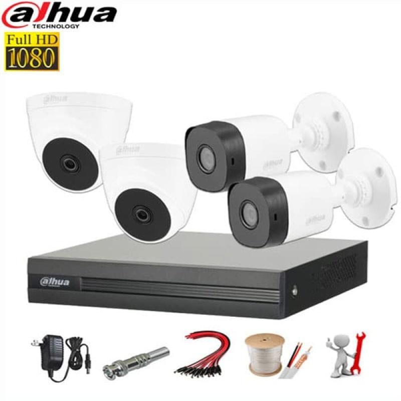 [CÓ VIDEO] Trọn bộ 4 mắt camera dahua 2.0 Full HD 1080p Kèm ổ cứng 500G lưu trữ - Đầy đủ phụ kiện lắp đặt