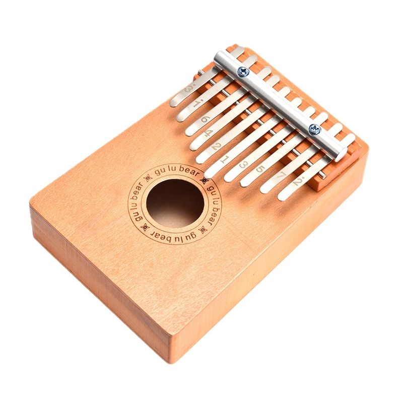 10 Key Kalimba Thumb Piano Solid Finger Piano for Childrens Musical Instrument Toys for Beginners Malaysia